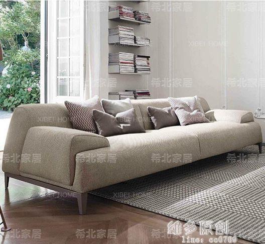 沙發 北歐沙發布藝簡約現代風格家具小戶型客廳組合三人位意式極簡輕奢全館促銷限時折扣