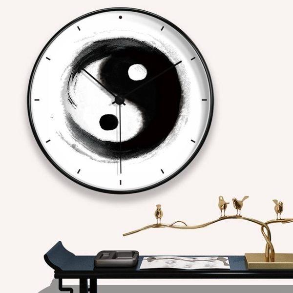 時鐘中式掛鐘客廳創意家用時鐘禪意裝飾掛表現代簡約大氣藝術靜音鐘表全館促銷限時折扣
