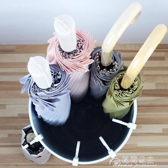 雨傘架家用 歐式現代時尚簡約家居鐵藝辦公雨傘桶 創意雨傘收納桶