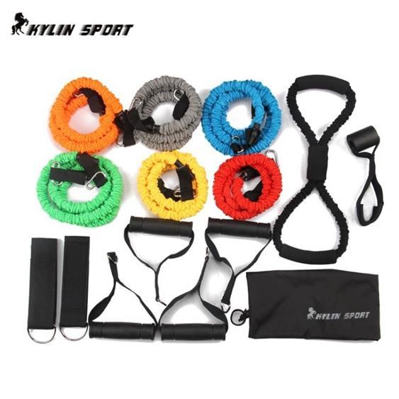 阻力帶拉力繩健身男力量訓練防斷拉力器阻力繩女士健身彈力繩家用彈力帶全館促銷限時折扣