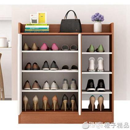 鞋櫃家用大容量門口鞋架儲物櫃收納置物玄關櫃簡約現代仿實木鞋櫃全館促銷限時折扣