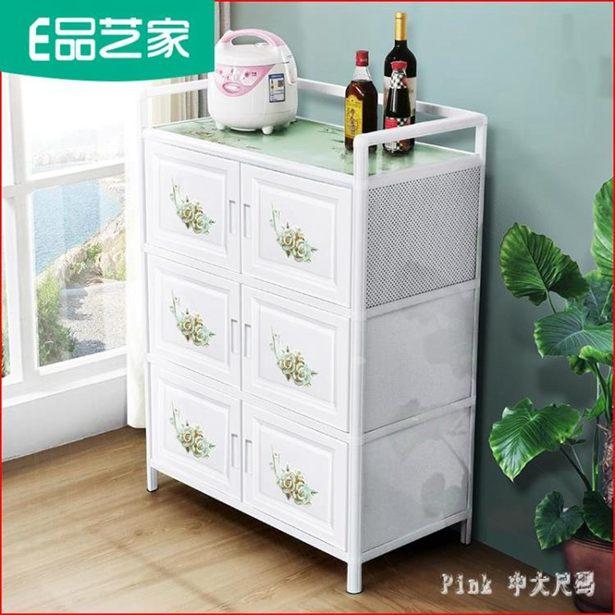 經濟型家用廚房置物櫃收納櫃子碗櫃儲物櫃簡易組裝廚櫃鋁合金櫥櫃 17072全館促銷限時折扣