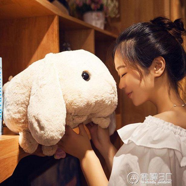 創意公仔兔子抱枕公仔毛絨玩具布娃娃公仔玩偶可愛長條枕女生兒童創意禮品全館特惠限時促銷
