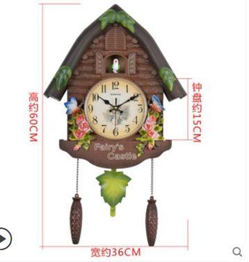布穀鳥客廳掛鍾家用兒童房卡通報時鐘錶創意時尚現代簡約掛牆時鐘全館特惠限時促銷