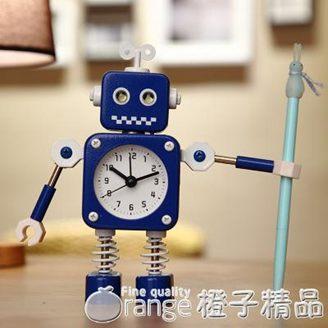 學生用鬧鐘兒童卡通專用鬧鈴床頭可愛創意個性機器人小男孩時鐘表全館促銷限時折扣