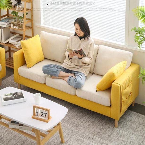 簡約現代布藝沙發小戶型客廳網紅款雙人三人北歐簡易出租房服裝店全館促銷限時折扣