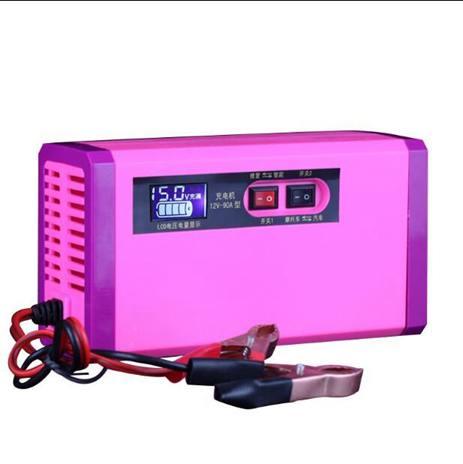 汽車機車電瓶充電器12v40ah60ah100ah幹水電池自動識別通用全館促銷限時折扣