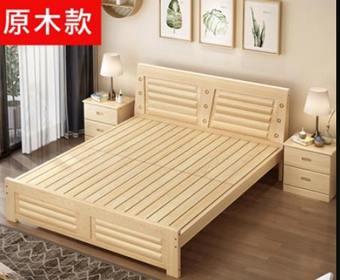 實木床架 全實木床主臥1.8米出租房雙人床架簡約現代經濟型1.2單人1.5米床