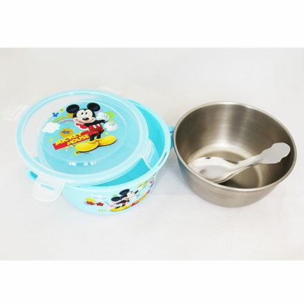 【敵富朗超巿】迪士尼不鏽鋼扣環隔熱碗(附湯匙)