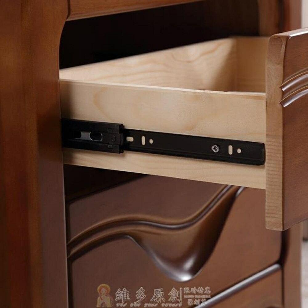 床頭櫃 收納櫃 申虹木業實木床頭櫃現代簡約床頭櫃中式臥室床邊收納儲物迷你小櫃 維多 4