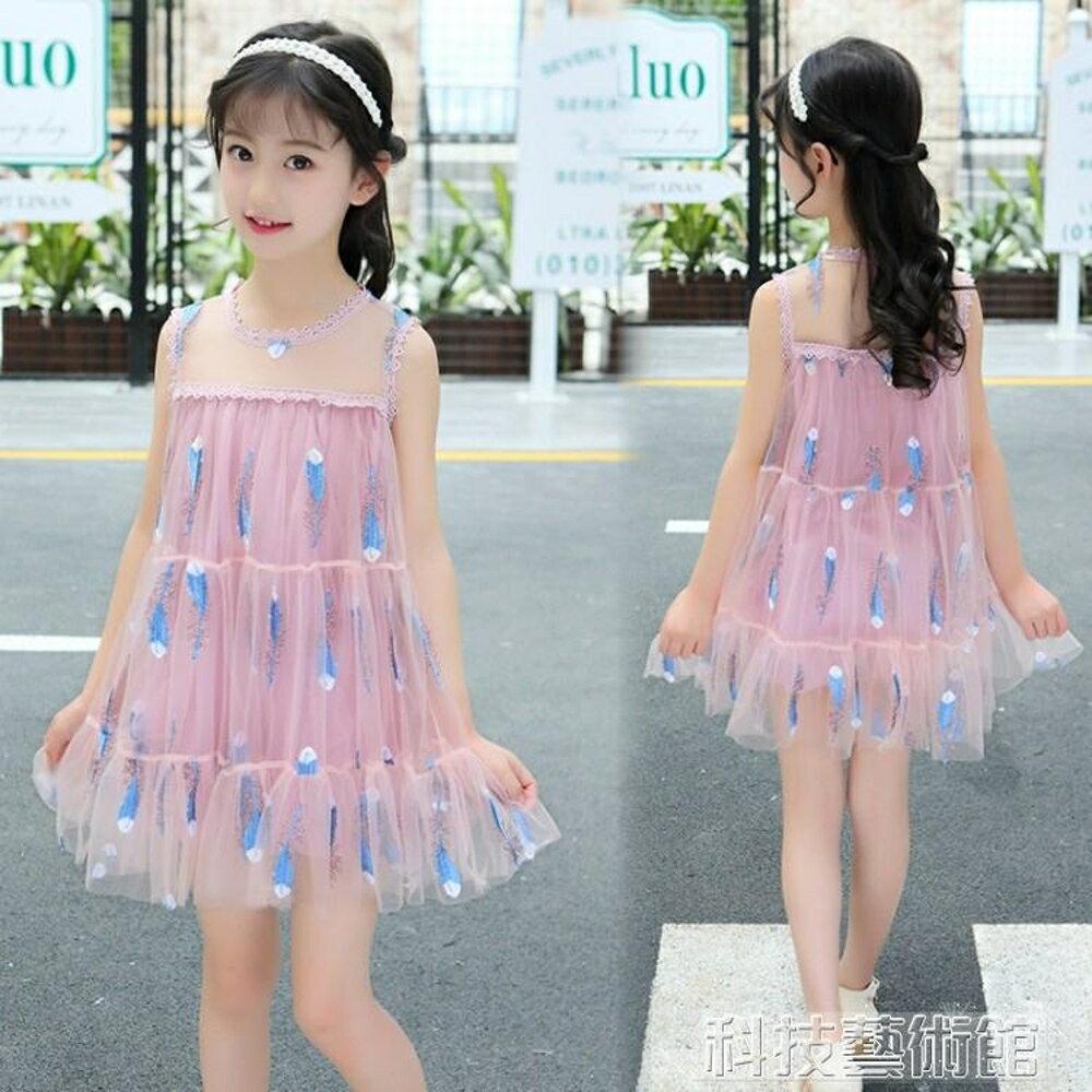 5到6至7女童8夏天小女孩子12兒童裝洋氣連身裙子10夏季衣服裝11歲 科技藝術館 0