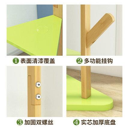 落地衣帽架 掛衣服帽架子落地簡易約現代家用實木杆式房間網紅鐵臥室置物櫃類『LM3024』