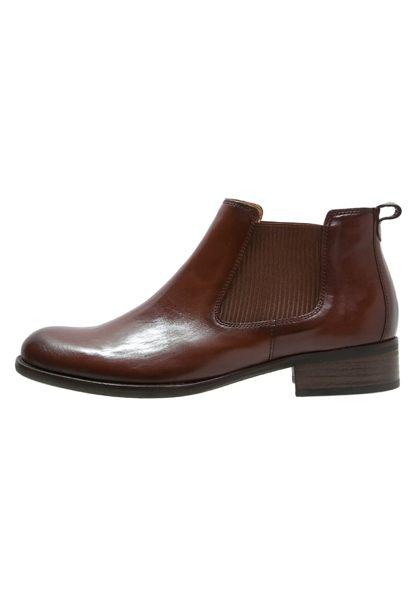 Gabor 英倫復古秋冬短靴  咖啡  粗低跟│寬楦│皮革│側U 5