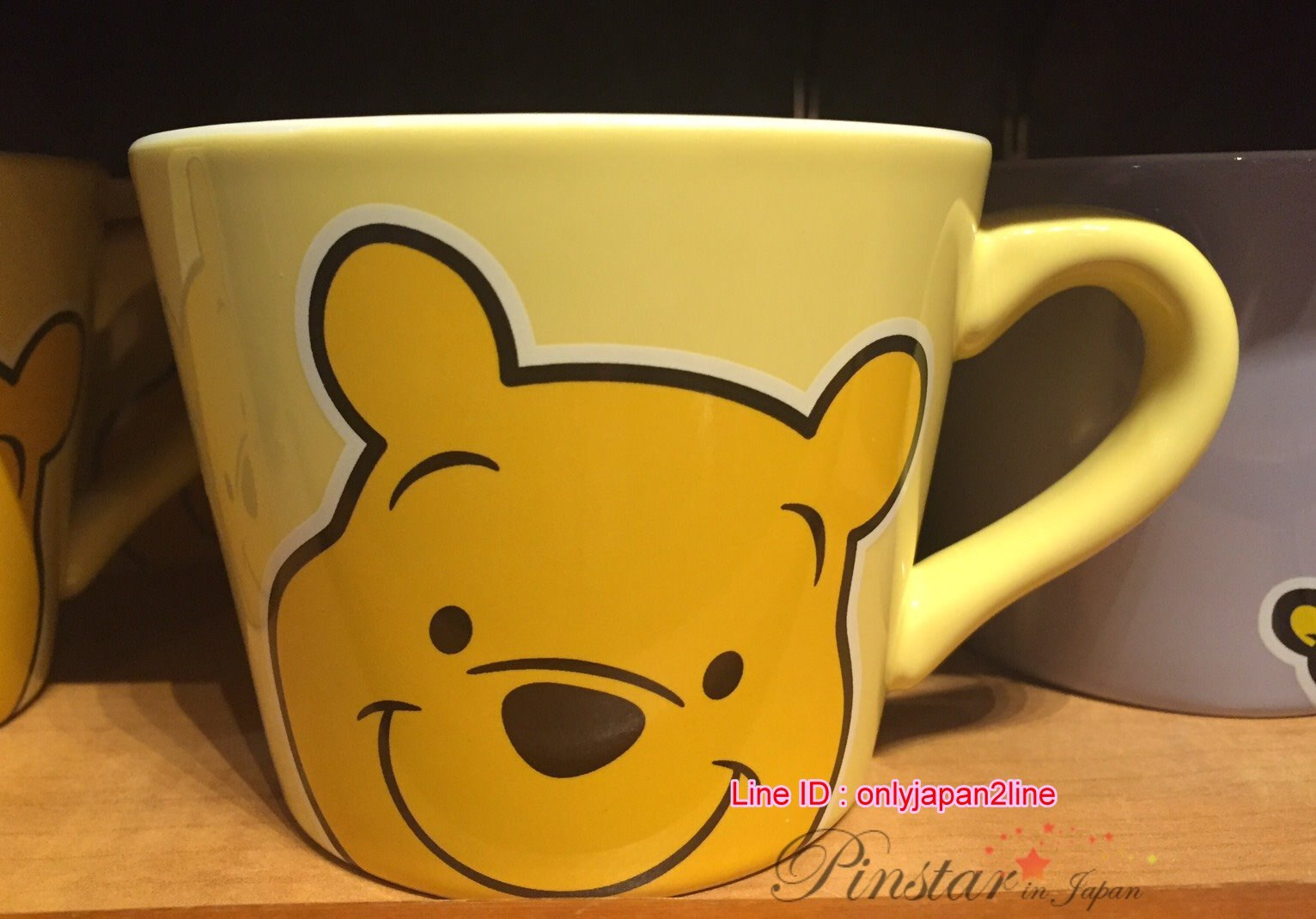 【真愛日本】16101000023樂園限定寬口馬克杯-滿版維尼  迪士尼 維尼家族 POOH   樂園限定 馬克杯 杯子