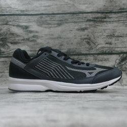 ※555鞋※Mizuno 美津濃 J1GA178403(黑銀灰) RUSH UP 3WIDE 寬楦路跑鞋