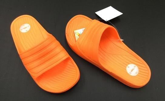 ※555鞋※橘色 母子鱷魚 馬卡龍色 浴室 海灘 防水 拖鞋 一體成形 氣墊 超舒適運動休閒拖鞋