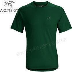 Arcteryx 始祖鳥/登山排汗衣/圓領短袖排汗衣 透氣控溫吸濕 20987 Velox 男款 澤凡綠