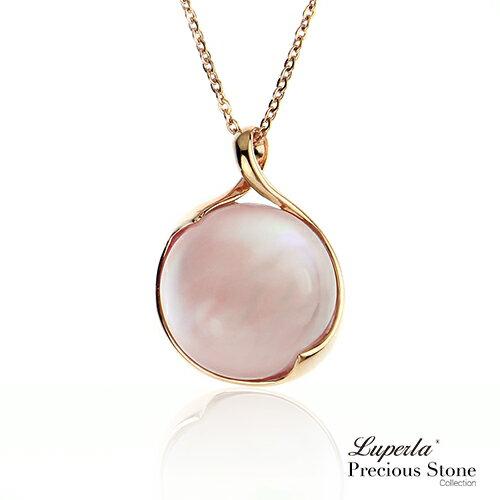 大東山珠寶 luperla:大東山珠寶愛戀進行曲天然粉貝玫瑰金項鍊星座愛情