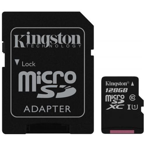 Kingston 128GB microSDXC 45MB/s UHS-I U1 Class 10 128G microSD micro SD SDXC C10 Flash Memory Card SDC10G2/128GB + OEM USB 3.0 Card Reader 1