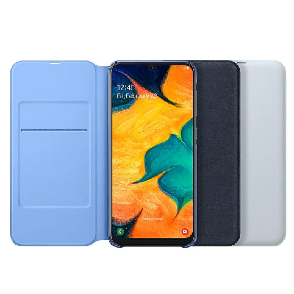 ( 刷指定卡享10%回饋 )正原廠盒裝 三星 SAMSUNG Galaxy A30  側翻式皮套-黑/白