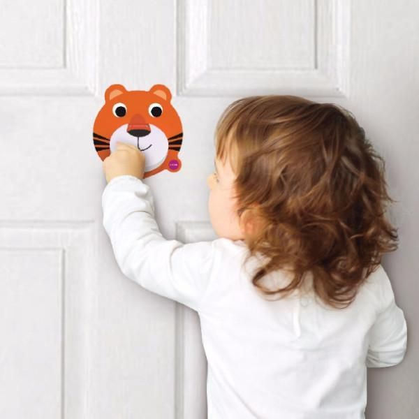 新加坡ORIBEL 創意壁貼玩具_老虎叩叩門好窩生活節 1