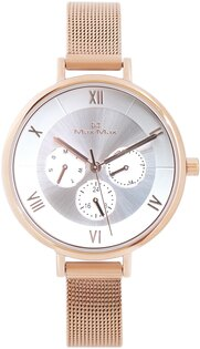 【完全計時】手錶館│MaxMax都會風MAS7024-2指南三眼系列316ML經典米蘭錶帶簡約白