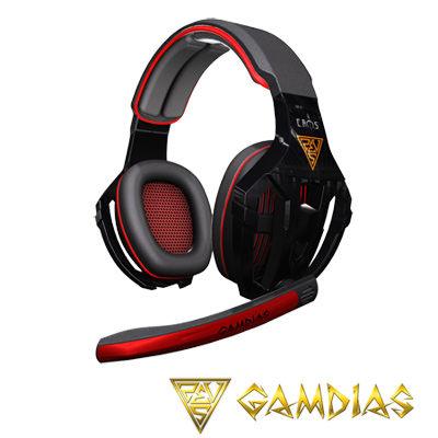 【新風尚潮流】GAMDIAS 鷹隼騎士 立體聲道電競耳機麥克風 黑紅 GHS2200