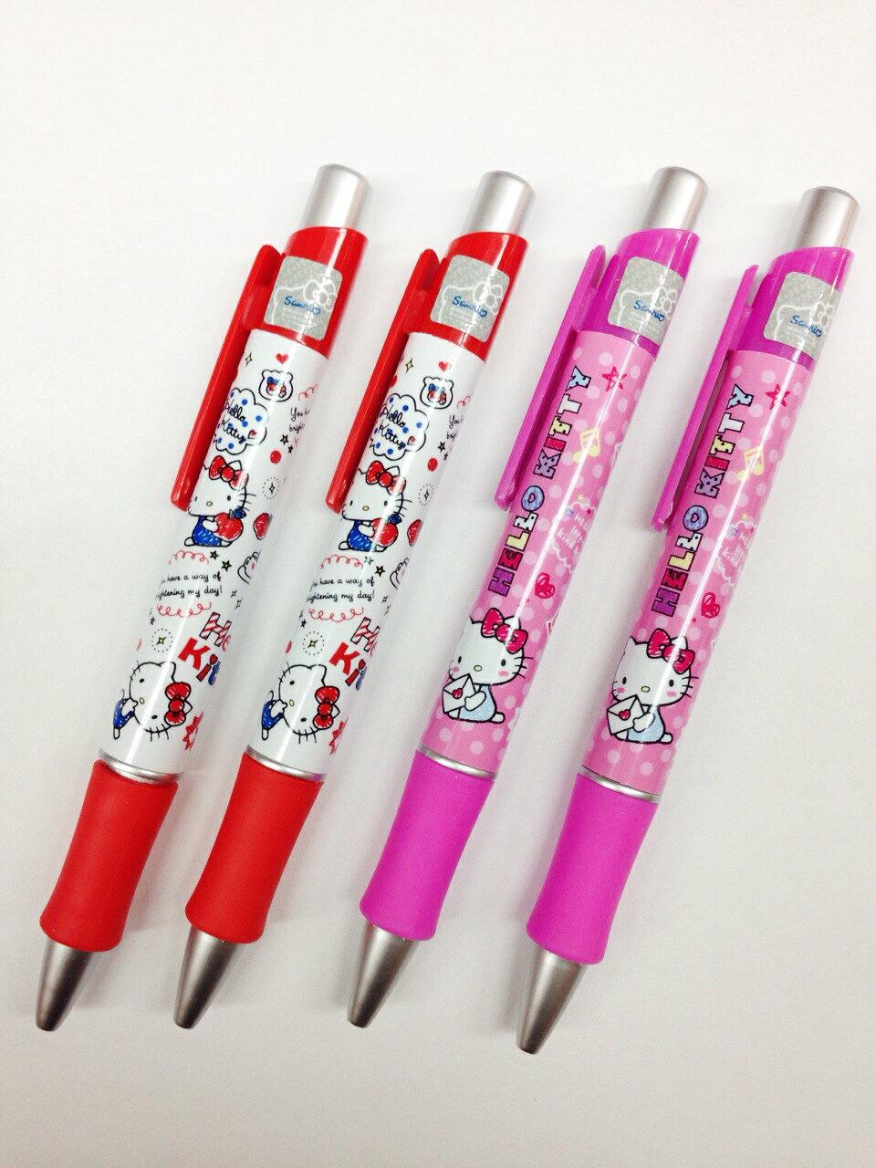 【真愛日本】15111400018自動鉛筆2入-KT弧形膠套2款  三麗鷗 Hello Kitty 凱蒂貓  書寫用具 文具 自動筆