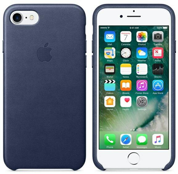 APPLE iPhone 7 PLUS 原廠皮革護套 5.5吋 手機套 午夜藍