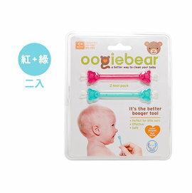 【淘氣寶寶】美國 Oogiebear-QQ熊耳鼻清潔棒(紅綠2入組)【專業醫師把關,國外媽咪大推薦】