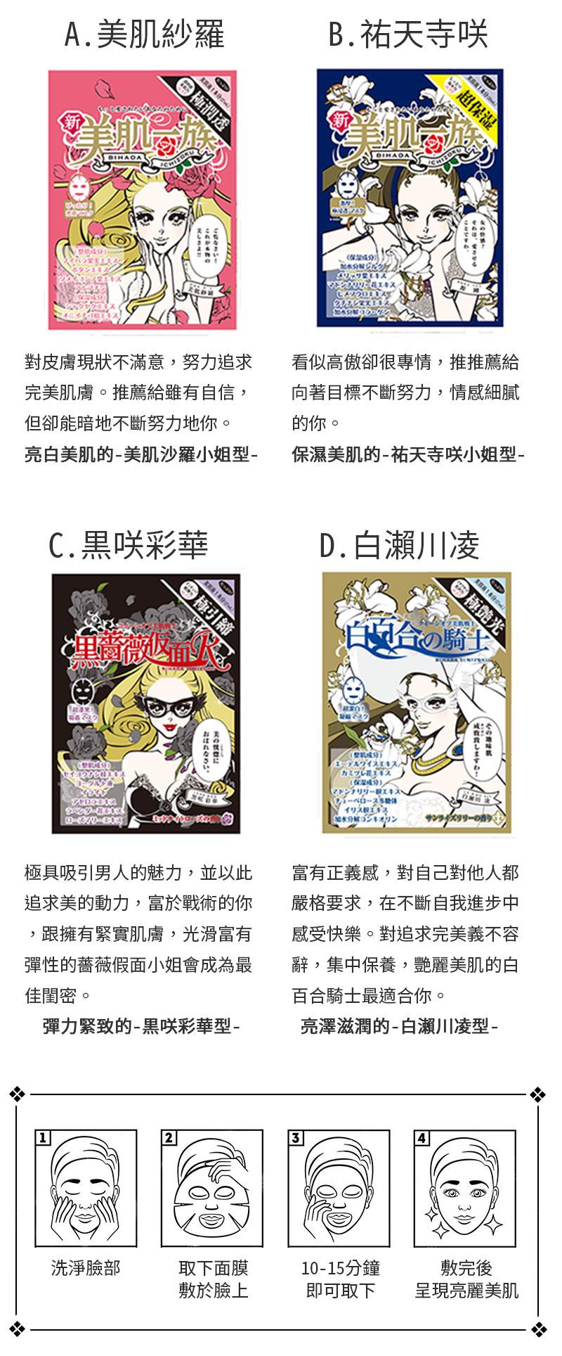 日本【新美肌一族-5入組】保養面膜 ⭐任選5片只要799⭐ 4