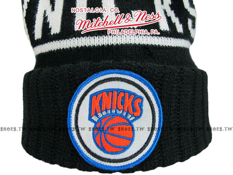 《下殺6折》Shoestw【5056161653222】Mitchell & Ness 毛帽 NBA毛帽 尼克隊 黑色 圓標LOGO 1