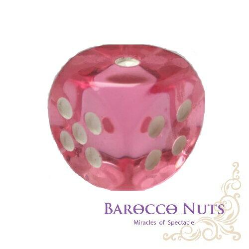 【Barocco Nuts】[桌遊/博奕]  2.5CM粉紅 圓弧邊半透明骰子 (色子/骰盅/點數骰子/棋牌/麻將/桌遊/Bar/夜店/KTV/ token/指示物)