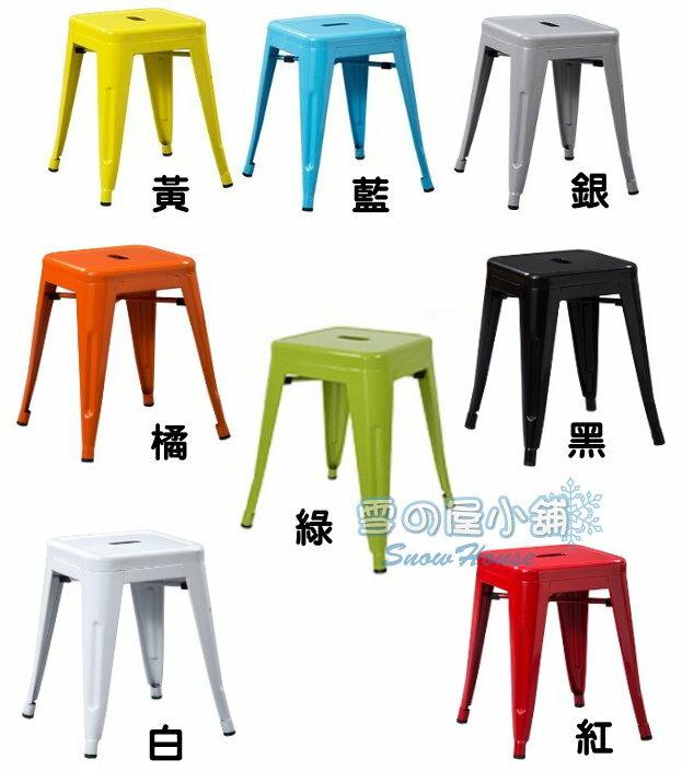 ╭☆雪之屋小舖☆╯工業風鐵椅/Tolix復刻版鐵凳/造型餐椅/休閒椅/餐椅45公分