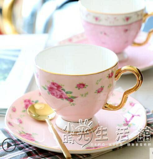 歐式咖啡杯碟套裝骨瓷小奢華下午茶茶具陶瓷英式花茶杯家用小精致 摩可美家