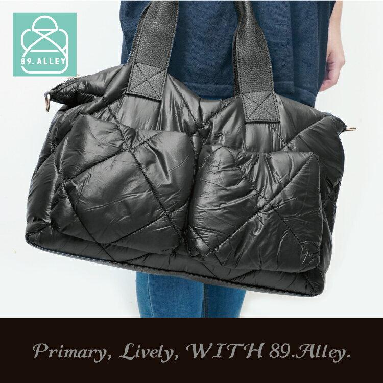 空氣包 側背包 防潑水大容量兩用手提媽媽包 女包 89.Alley-HB89255 1