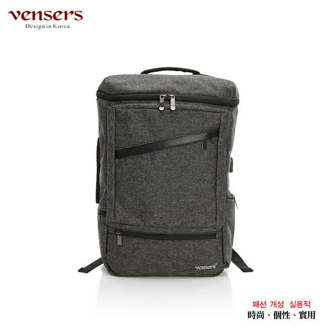 【vensers】 多功能時尚後背包 (S700301黑灰) 0