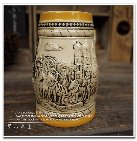 【瑪麗恩廣場】陶瓷德國啤酒杯創意
