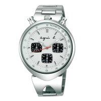 agnès b.手錶推薦到agnes b VD55-KS00S(BX9005X1)小惡魔時尚計時腕錶/白面39mm就在大高雄鐘錶城推薦agnès b.手錶