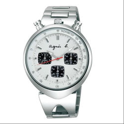 agnes b VD55-KS00S(BX9005X1)小惡魔時尚計時腕錶/白面39mm