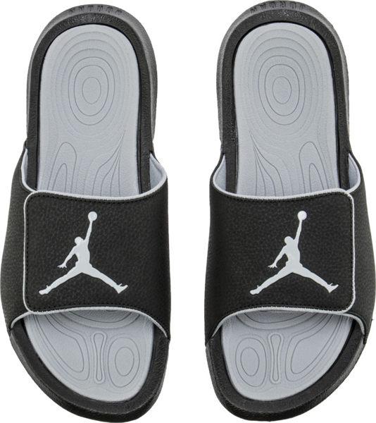 NIKE Air Jordan Hydro 6 男鞋 拖鞋 休閒 舒適 魔鬼氈 黑 灰 【運動世界】 881473-011