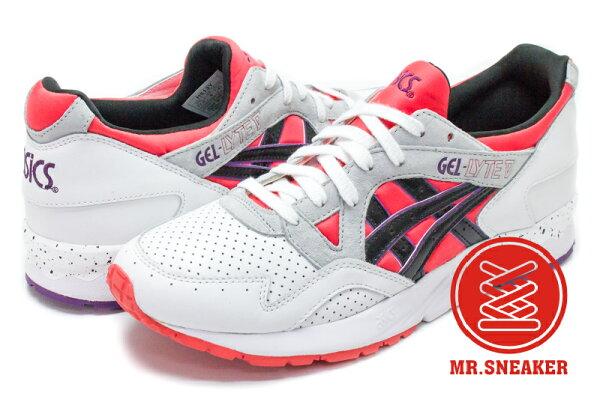 ☆Mr.Sneaker☆ASICSTigerGEL-LYTEVH613Y2590紅黑網洞潑漆NBA男段