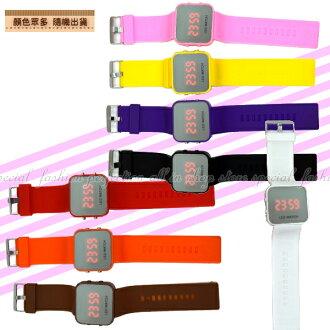 LED鏡面錶 時尚手環錶 個性矽膠手錶帶 手環手錶運動錶【DQ230】◎123便利屋◎