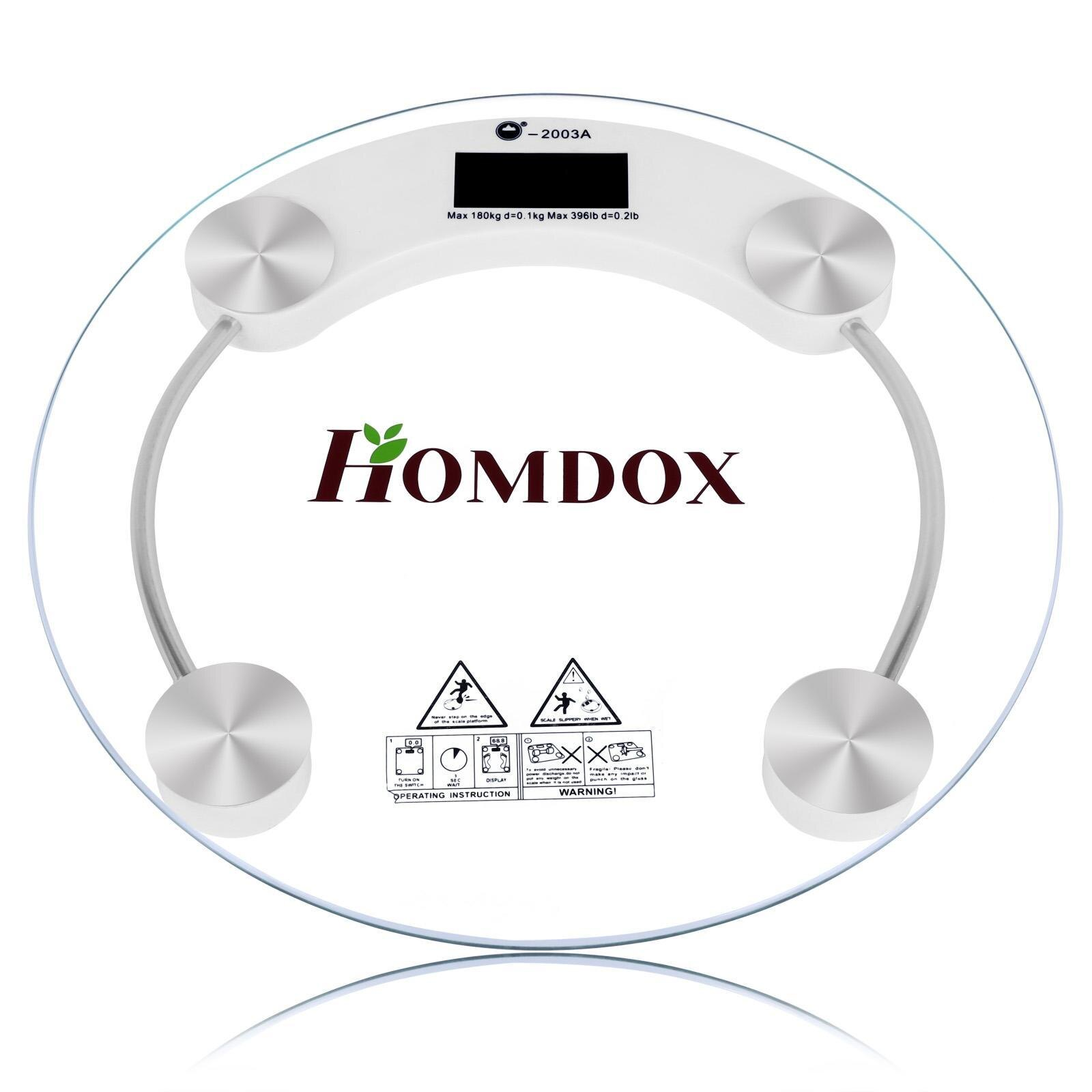 Round Digital LCD Glass Body Weight High Precision 150kg 1