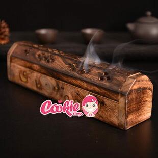 印度香盒小號香盒香具手工藝鏤空芒果木線香臥式木香【庫奇小舖