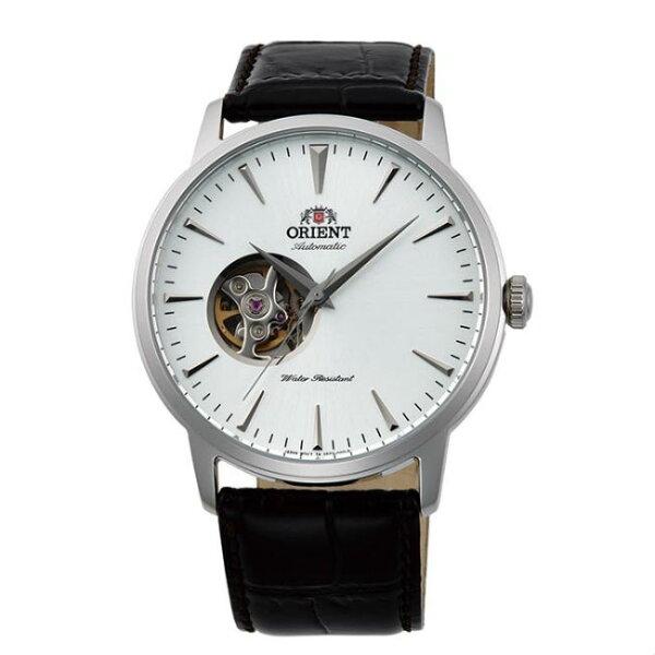 ORIENT東方錶SEMI-SKELETON系列(FAG02005W)半鏤空機械錶皮帶款銀41mm