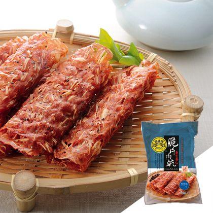 【野味食品】黑橋牌黑胡椒杏仁脆片肉乾70g / 包(10捲) 0