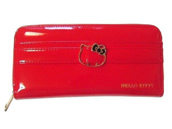X射線【C426381】HelloKitty長皮夾-紅,美妝小物包筆袋面紙包化妝包零錢包收納包皮夾手機袋鑰匙包