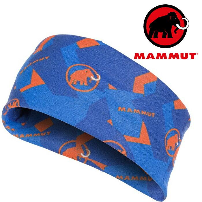 Mammut 長毛象 透氣排汗頭巾/登山/單車/運動頭巾 1090-05810 5925 冰藍/日出橙