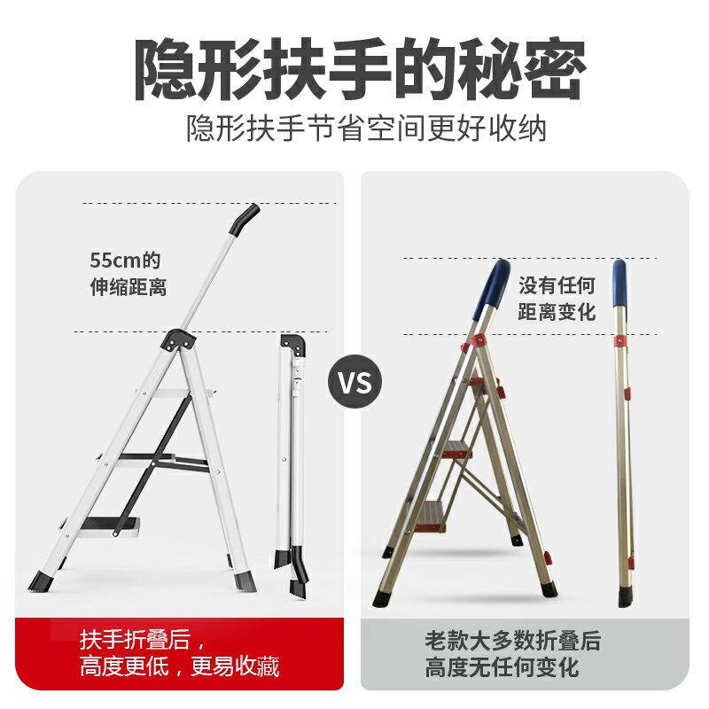 梯子折疊伸縮人字梯多功能爬梯加厚台小梯凳雙十一